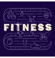 Fitness banner for gym vector image vector image