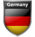 flag of germany on badge vector image vector image