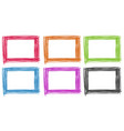 frame design in different colors vector image