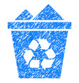 full recycle bin grunge icon vector image vector image