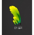 Green feather nature and birds concept