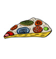 hand-drawn appetizing pizza vector image