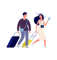 happy tourists summer vacation weekend travel vector image vector image