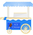 Ice cream blue cart vector image