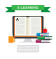 icon distance education and e-learning vector image