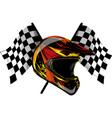 icon motocross helmet helmet for downhill vector image
