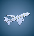Icon passenger aircraft vector image