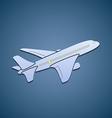 Icon passenger aircraft vector image vector image