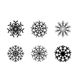 isolated decorative snowflakes winter vector image vector image