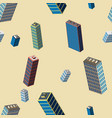 isometric buildings seamless pattern vector image vector image