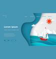 landing page tourism sea voyage sailboat ocean vector image