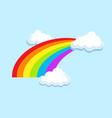 lgbt rainbow in clouds symbol icon vector image vector image