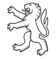 lion for tattoo 01 vector image vector image