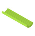 Long green celery icon isometric style