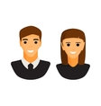 Man and woman silhouette icon vector image vector image