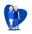 old couple two aged people stand elderly man and vector image vector image