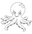 outlined octopus vector image vector image