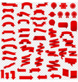 red ribbon set isolated transparent background vector image vector image