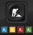 repair of road construction work icon symbol Set vector image