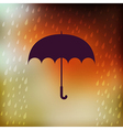Retro umbrella symbol on hipster background Retro vector image vector image