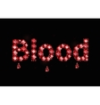 Ruby Word Blood vector image vector image