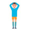 sad goalkeeper icon flat style vector image vector image