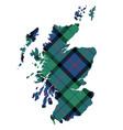 scotland map texture of tartan plaid flat design vector image vector image