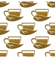 Seamless pattern of tea cups vector image vector image