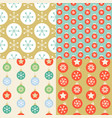 seamless pattern wallpaper of christmas ball vector image vector image