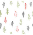 seamless pattern with christmas tree vector image