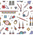 seamless pattern with fashionable jewelry items on vector image vector image