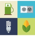 set alternative energy icons vector image vector image