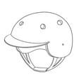 set of bicycle helmet vector image vector image