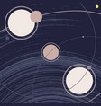 space galaxy with planets orbits sun and stars vector image
