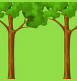 spring or summer background with stylized trees vector image vector image