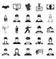 successful man icons set simple style vector image vector image