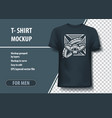 t-shirt mock-up template with cross and snake vector image vector image