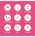 technology internet icons Modern infographic logo vector image