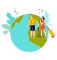 travel vacation summer holidays man and woman vector image vector image