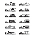 Trucks with over-sized loads vector image vector image