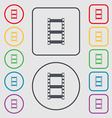 Video sign icon frame symbol Symbols on the Round vector image