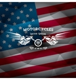 vintage american motorcycle club label or badge vector image