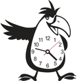 Wall clock parrot sticker