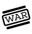 war black stamp vector image vector image