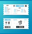 cinema entrance ticket template in modern vector image
