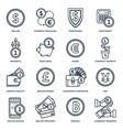Currency exchange in the banking system vector image