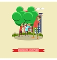 Physical education lesson concept vector image