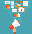 digital marketing concept in flat style