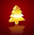 3d christmas tree vector image vector image