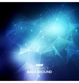 Abstract low poly blue bright technology vector image